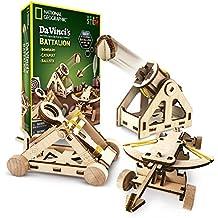 NATIONAL GEOGRAPHIC - Da Vinci's DIY Science & Engineering Construction Kit – Build Three Functioning Wooden Models: Catapult, Bombard & Ballista