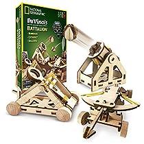 NATIONAL GEOGRAPHIC da Vincis DIY Inventions Kit - Build Three Wooden Desktop Models: Catapult, Bombard Ballista