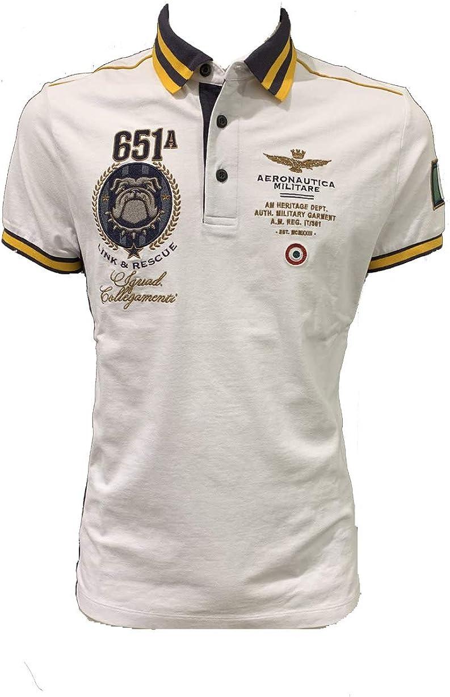 Aeronautica Militare Polo PO1449P Blanco Piquet Hombre Camisa ...
