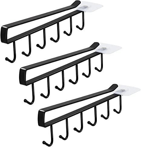 Details about  / 6X Metal Under Shelf Mug Cupboard Kitchen Organiser Hanging Rack Holder 6 Hooks