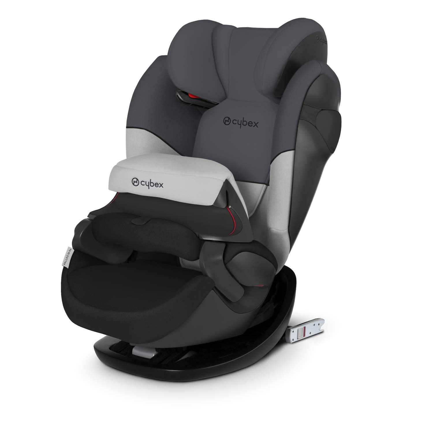 Cybex Silver Pallas M-Fix, 2-in-1 Child's Car Seat, Adjustable Impact Safety Shield and ISOFIX Compatible, Group 1/2/3 (9-36 kg), From Approx. 9 Months to Approx. 12 Years, Gray Rabbit