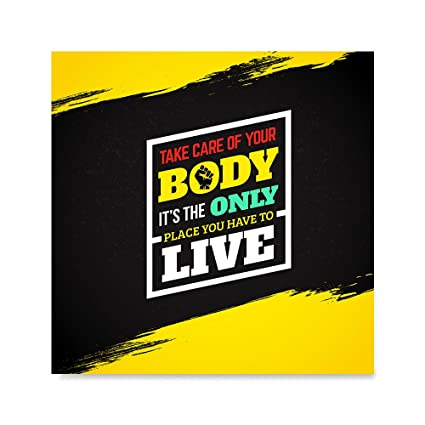 EzPosterPrints - Gym Fitness Inspiration Motivation Quotes Posters - Poster  Printing - Wall Art Print for Home Office Decor - Your Body - 16X16 inches