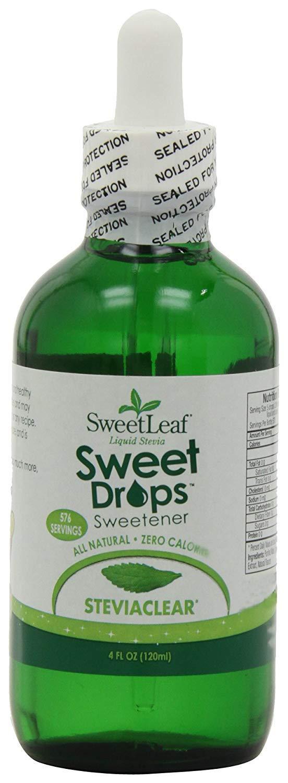 Sweet Drops Liquid Stevia Sweetener, SteviaClear, 4 Ounce (Pack of 2)