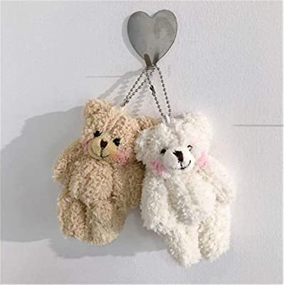 Heyuni.Plush Keychain Stuffed Animal Doll Ornaments Pendant Bear Car Handbag Keyring 2PCS: Home Improvement