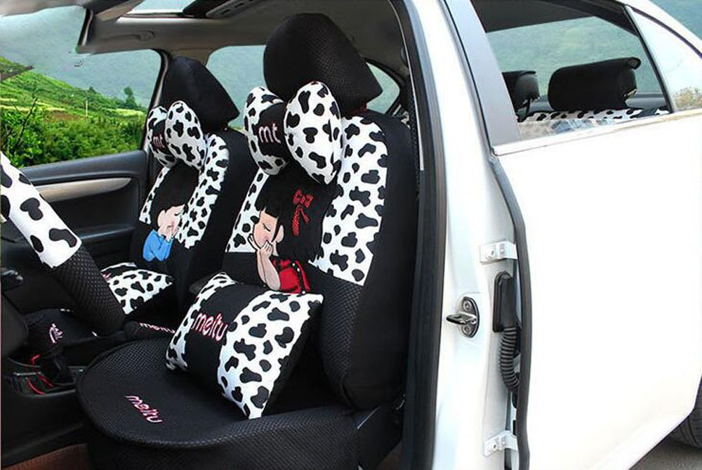 20pcs/SET new 2016 luxury cartoon Seat Covers for cars Front & Back car covers four seasons Universal car seat cover car interior V5601