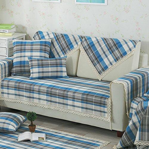 Sofa cushions, four seasons simple cushion,fabric fashion sofa mat summer cool mat-D 90x120cm(35x47inch) by JIN Sofa mats