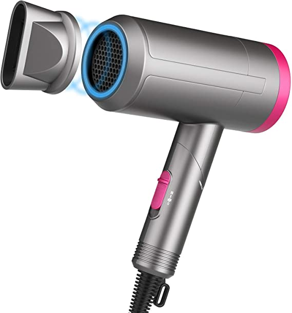 Paubea Radiation Free Hair Dryer - Folding Low Noise Small Ionic Infrared Ceramic Blow Dryer