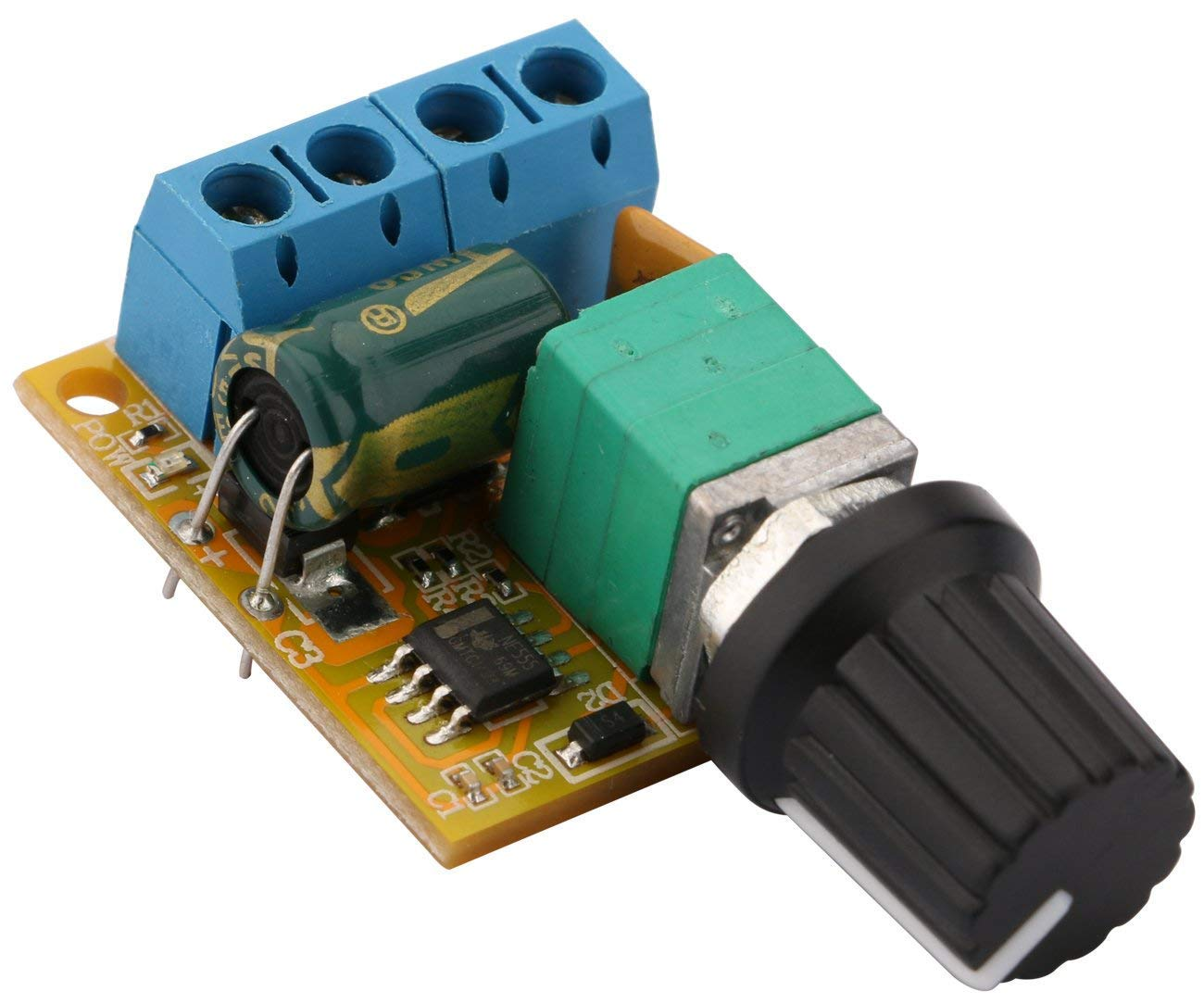 Yeeco DC Motor Speed Control Switch 3V to 35V 5A Motor Controller Driver Board PWM Controller Stepless