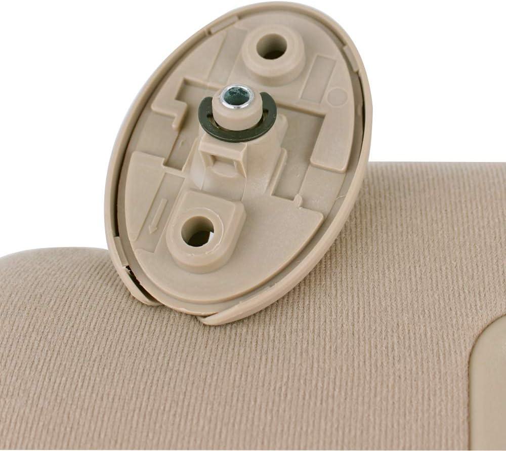 LH Sand Beige UNIGT Driver Side Sun Visor Replacement for 2005-2012 Toyota Tacoma Pre-Runner 74320-04181-E1 Left Visor Assy