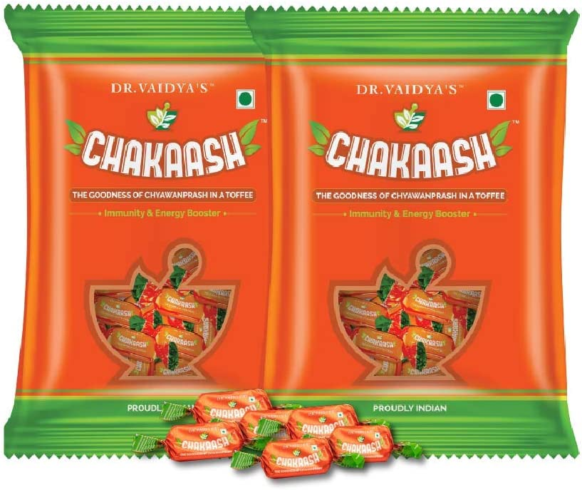 Dr. Vaidya's New Age Ayurveda | Chakaash | 50 toffees (Pack of 2)