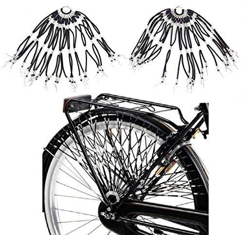 2 opinioni per Retina / Paraveste elastica per bicicletta (coppia)- Scegli il Colore (Nero)