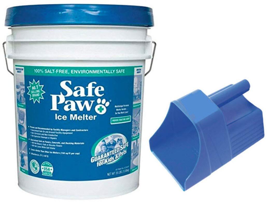 Safe Paw Ice Melter 35lb Pail (35lb - Pail w/Scoop) by Safe Paw