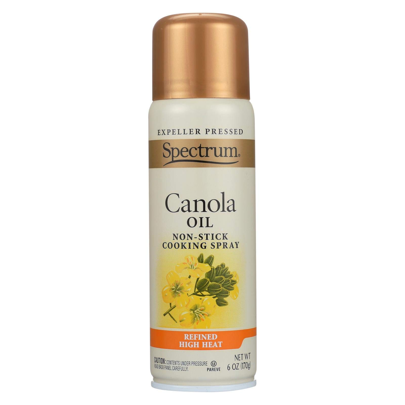 Spectrum Naturals High Heat Canola Skillet Spray, 6-ounce Cans (Case of 6) by Spectrum