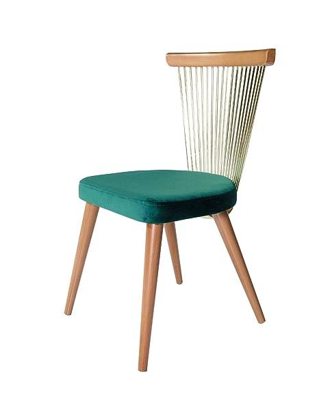 K&CO Home Sixties - Juego de 2 sillas Vintage y diseño ...