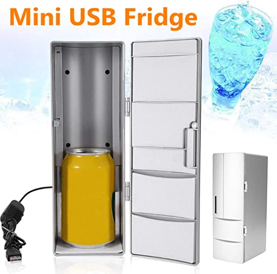 10W Mini USB Refrigerador Congelador Puede Beber Cerveza Enfriador ...