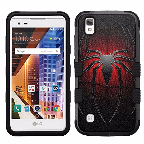 Volt Case - for LG Tribute HD, LG X Style, LG Volt 3, Hard+Rubber Dual Layer Hybrid Heavy-Duty Rugged Armor Cover Case - Spider-Man #L