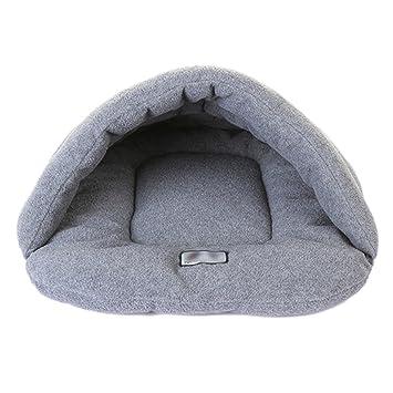 Minkoll Mascotas Perro Gato Cama, otoño Invierno cálido Acogedor Suave casa Peluche Nest Mat Pad Cojín (M, Gris): Amazon.es: Productos para mascotas