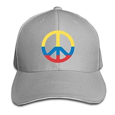 Presock Gorra De Béisbol,Gorro/Gorra Unisex Colombia Flag Peace ...