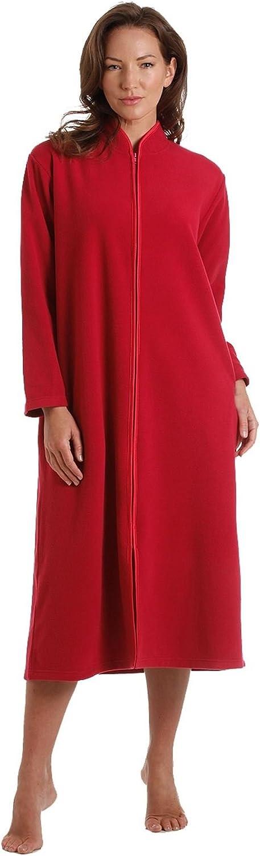 TALLA 18-20. Damas, con cremallera Bata de felpa suave, cremallera Robe Con acabado satinado Rosa Rosa Azul