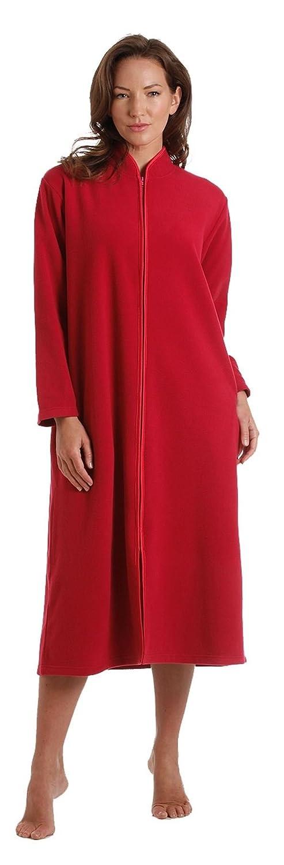 Damas, con cremallera Bata de felpa suave, cremallera Robe Con acabado satinado Rosa Rosa Azul