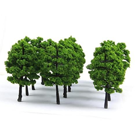 Árboles en miniatura para maquetas de trenes o de parques ...