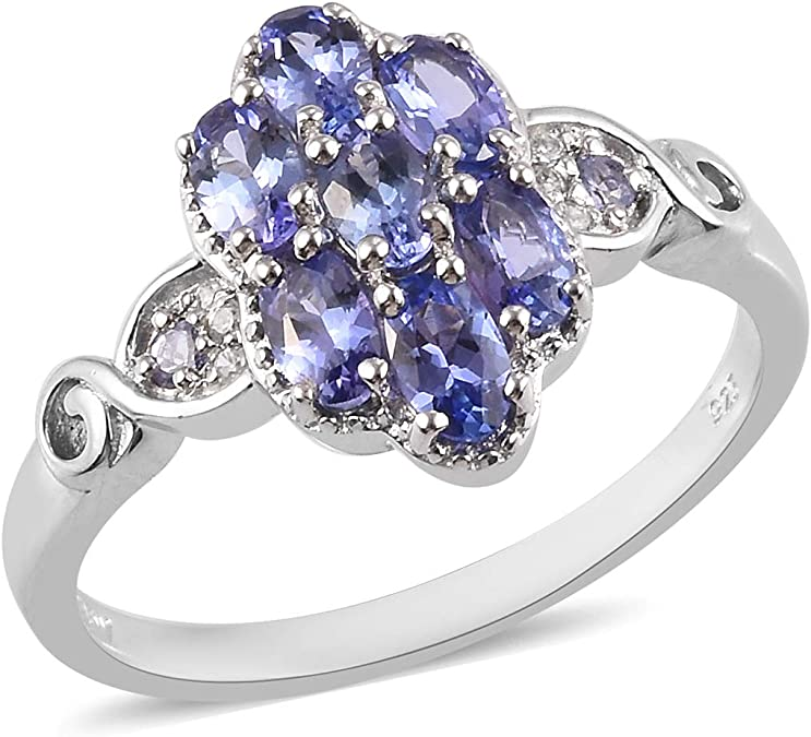 Shop LC Platinum Over 925 Sterling Silver Kyanite Ring Ct