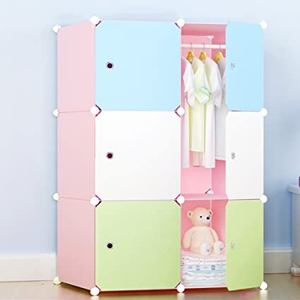 Exceptional FKUO Wardrobe Closet Bedroom Cartoon Fashion Free Combination Of Resin  Plastic Simple Childrenu0027s Wardrobe Simple Storage