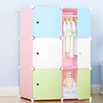 Good FKUO Wardrobe Closet Bedroom Cartoon Fashion Free Combination Of Resin  Plastic Simple Childrenu0027s Wardrobe Simple Storage