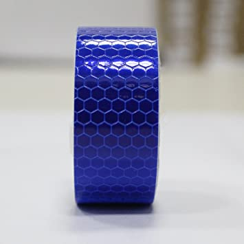 Blue Reflective Tape for Trailers Cars Trucks Bicycles Safety Caution Warning Tape 1/″x9.8/′