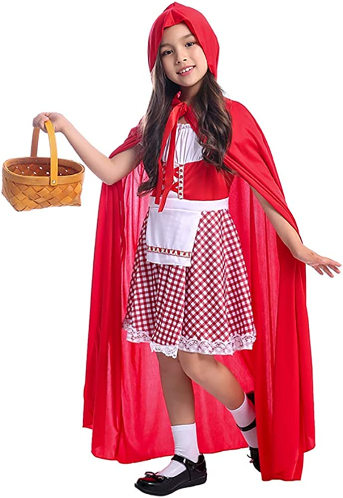 Amazon Com Siyimue Girls Little Red Riding Hood Costume Role