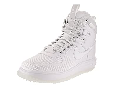 Nike Men's Lunar Force 1 Duckboot Boot, White/White, 8.5 D(M