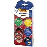 Jovi Face Paint, set Héroe, 6 botes, 8 ml, colores surtidos y accesorios (174B)