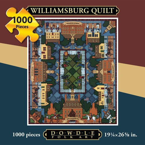 Jigsaw Puzzle - Williamsburg Quilt 1000 Pc By Dowdle Folk Art
