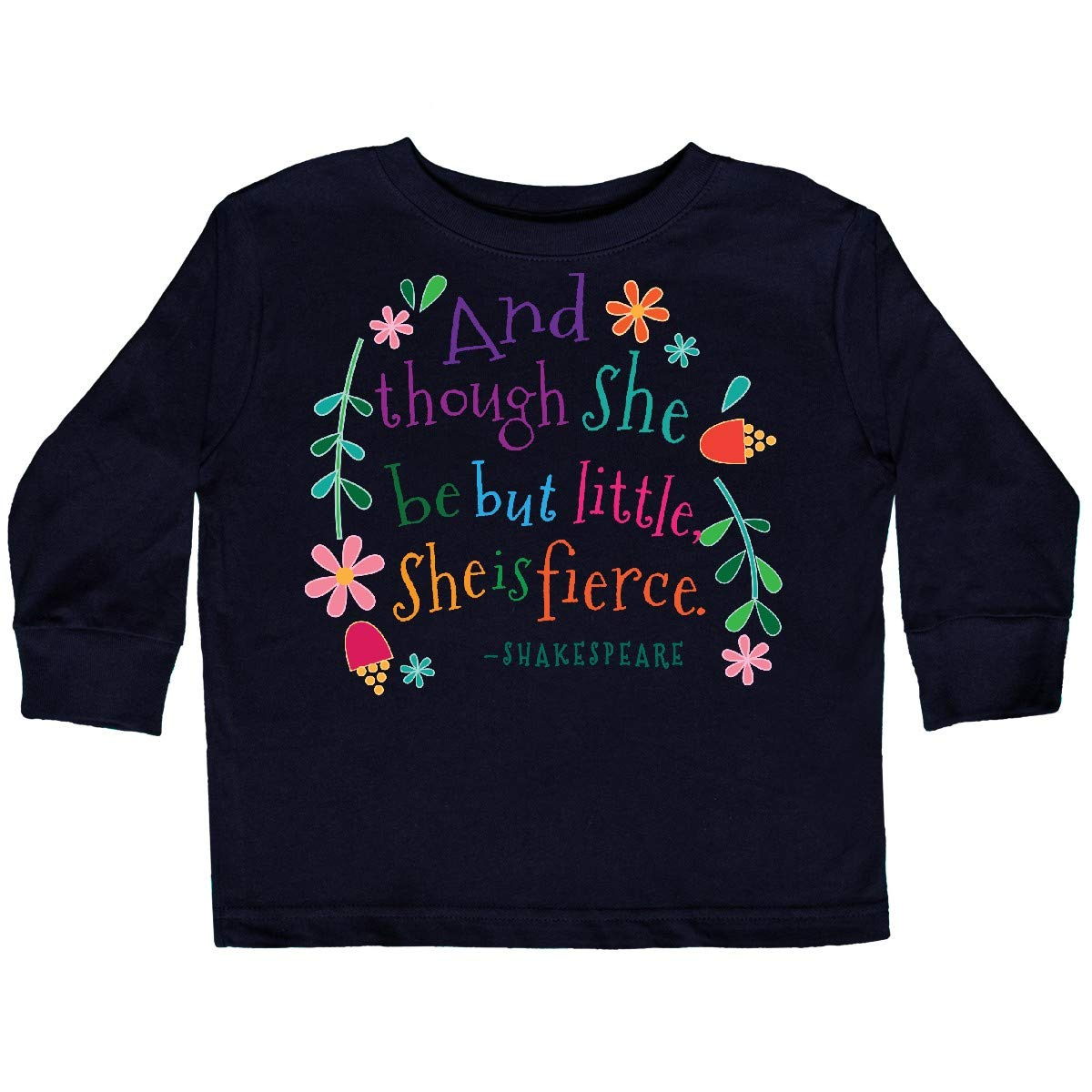 2496dd0050 Amazon.com: inktastic - She is Fierce Funny Shakespeare Toddler Long Sleeve  T-Shirt 2aead: Clothing