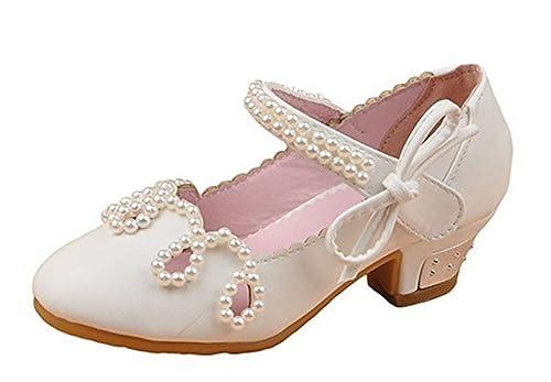 2f8f61bc YOGLY Zapatos para Niñas Princesa Sandalias de Niña con Perla Zapatos Niñas  Tacones: Amazon.es: Zapatos y complementos