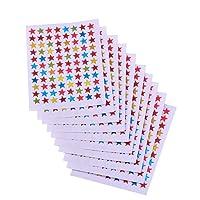 Stelle di Adesivi Stelle Stickers Stella Adesivi Glitterati, Da 10 Fogli, Colori Assortiti