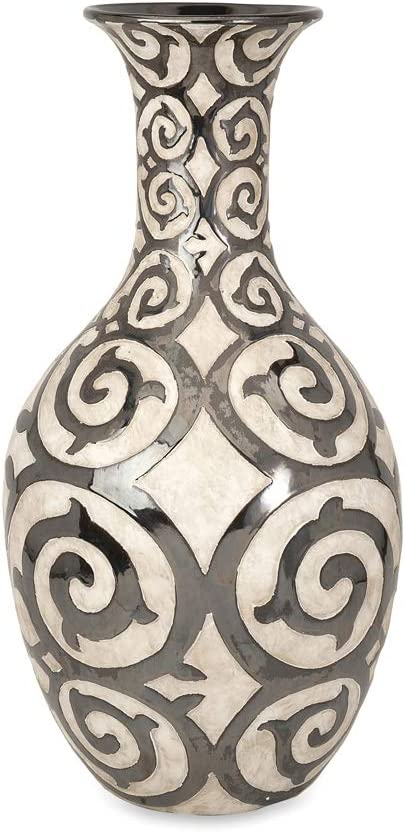 Amazon Com Imax 89684 Benigna Tall Oversized Floor Vase Muted Bronze Pattern Raised Cream Finished Bodice Sophisticated And Luxurious Appeal Decorative Vase 28 5 H X 14 75 D Home Kitchen