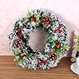 Christmas Garland for Stairs fireplaces Christmas Garland Decoration Xmas Festive Wreath Garland with Christmas wreath Christmas tree wreath,20cm