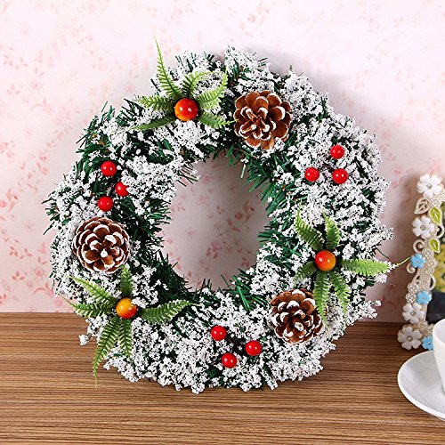 Christmas Garland for Stairs fireplaces Christmas Garland Decoration Xmas Festive Wreath Garland with Christmas wreath Christmas tree wreath,20cm by Caribou Furniture And Decor