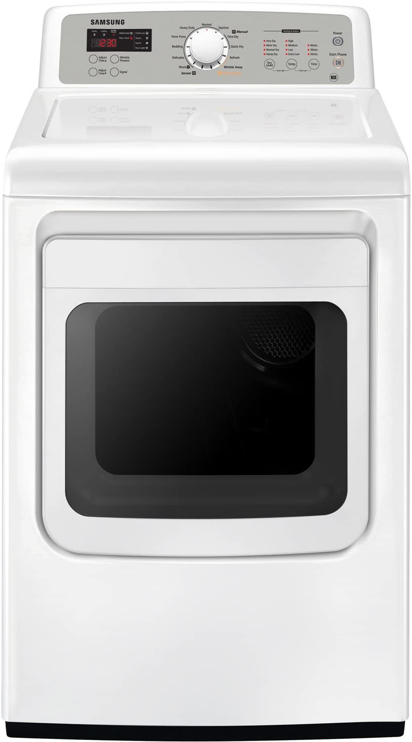Samsung DV5451AEW 7.4 Cu. Ft. White With Steam Cycle Electric Dryer