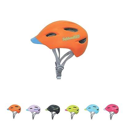 SAFEHEAD FREEDOM FOR LITTLE EXPLORERS SafeheadTOTS - Toddler Bike Helmet -Orange Blue - XS : Sports & Outdoors