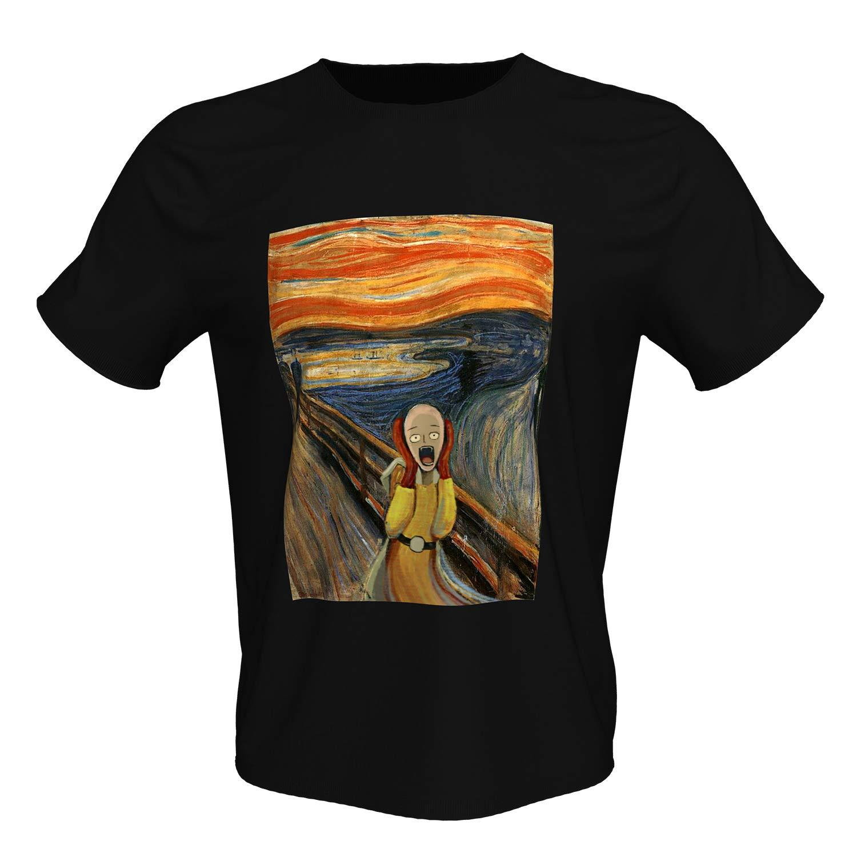 Amazon.com: Camiseta de manga corta de algodón negro con ...