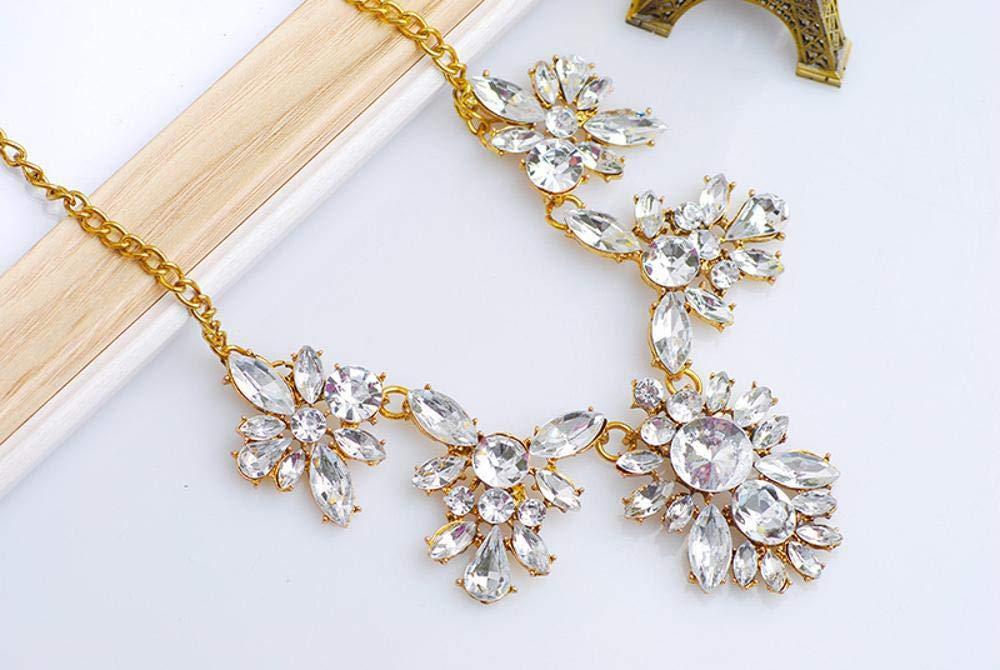 cushang Mens Pendant Gem-Inlaid Leaf-Shaped Alloy Necklace Earrings Set Perimeter 45+5cm