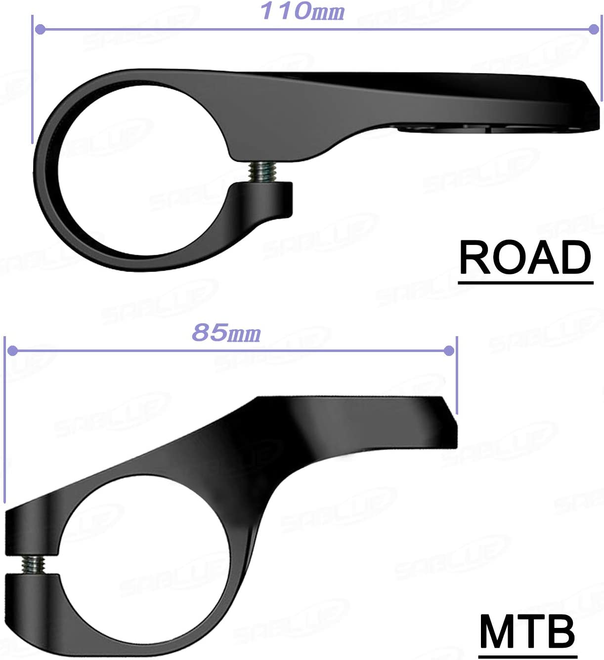 SABLUE Bicycle Computer Extended Mount Bike Handlebar for garminedge 200 500 800 510 810 820 1000 GPS Support Road MTB 31.8mm 25.4mm Long