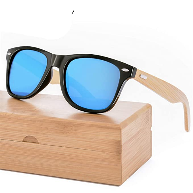 Gafas, Gafas de sol, Retro Wood Sunglasses Men Bamboo ...
