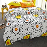 Egg Crate Mattress Pad Bed Bath and Beyond TheFit Paisley Textile Bedding for Adult U1143 Yellow Morning with Egg Duvet Cover Set 100% Cotton 500 Thread Count, Queen Set, 4 Pieces