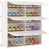 Shoe Racks Ideal for Shoes Boots JOISCOPE Portable Shoe Storage Organzier Tower 2 * 5 Modular Shoe Cabinet for Space Saving Slippers