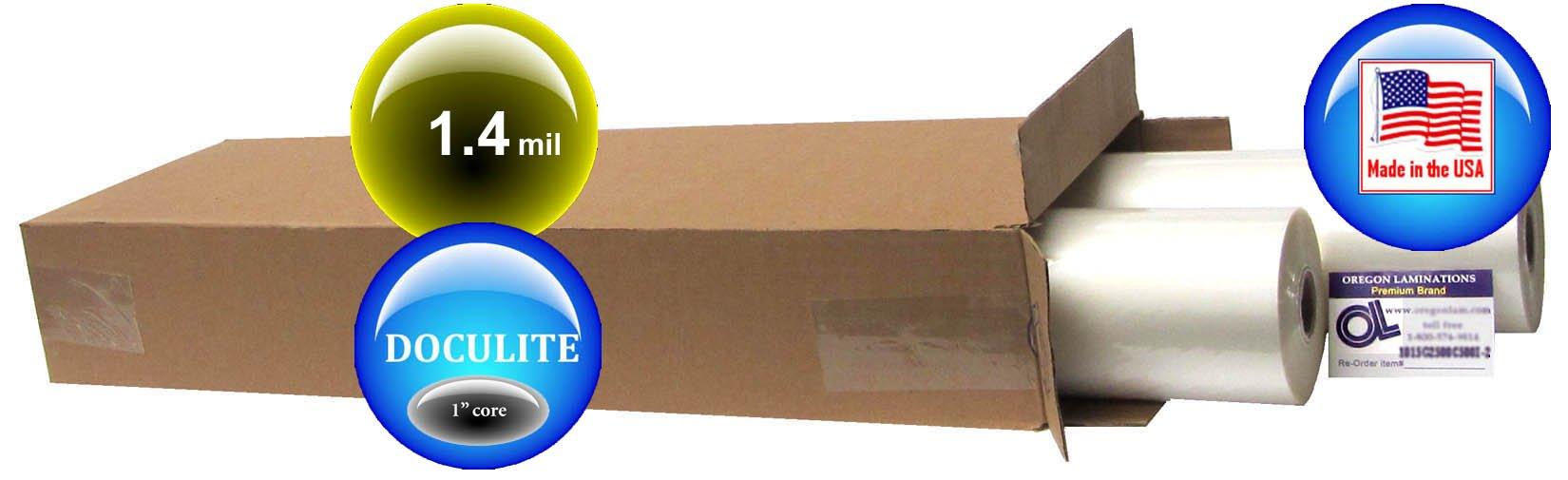 Adlam Doculite Hot Laminating Film 27-inch x 500-feet x 1-inch core (2 Rolls) 1.3 Mil by Oregon Lamination