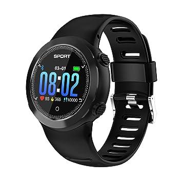 RanGuo Reloj Inteligente para Hombres Mujeres y niños, Deportes al Aire Libre Impermeable IP68 Smart Watch para Sistema Android y iOS (Negro): Amazon.es: ...