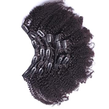 Amazon 7a 4b 4c Kinky Curly Clip In Human Hair Extensions 7pc